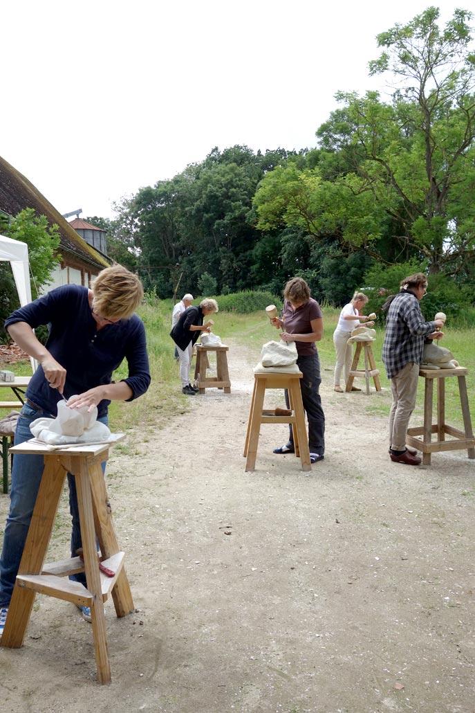 Gruppe Bildhauerkurs